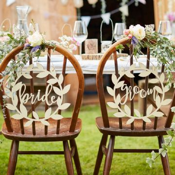Bride & Groom Wooden Signs